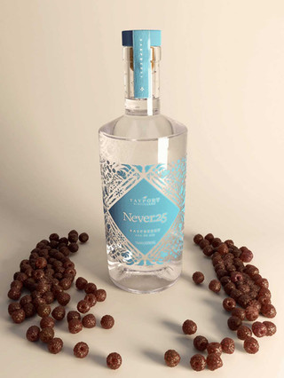 Raspberry-flavoured gin bottle