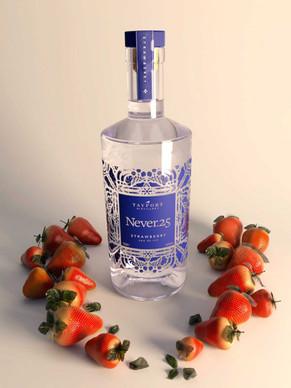 Strawberry-flavoured gin bottle