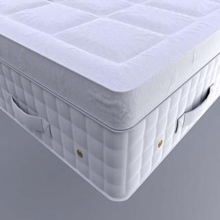 Close-up of finished mattress