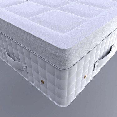 Close-up of finished mattress