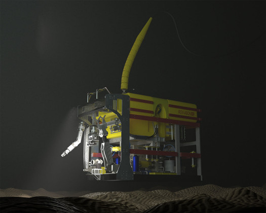 ROV operating with flexlink