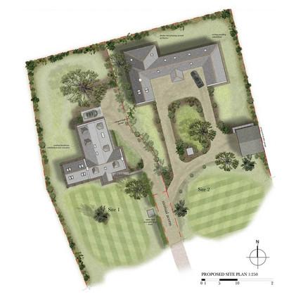 Illustrated siteplan