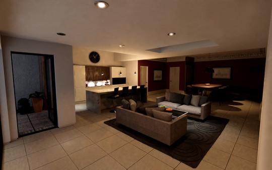Modern interior - night time