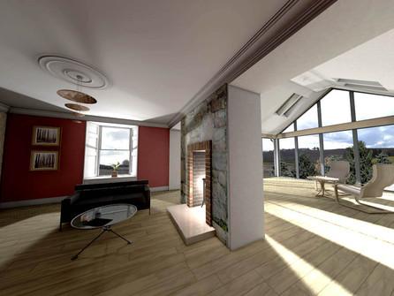 Refurbished interior of the cottage