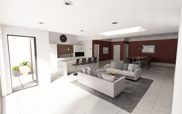 Modern interior - day time