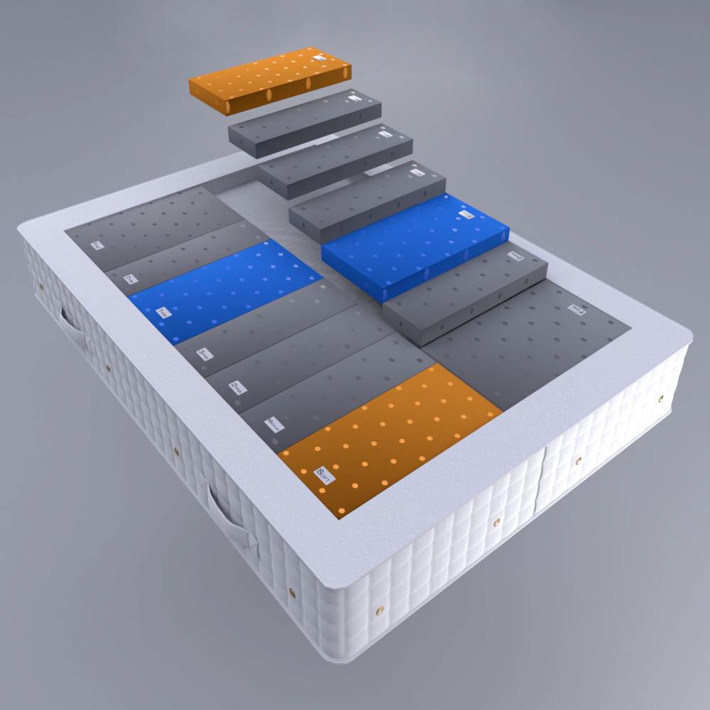 Glencraft double mattress elements render