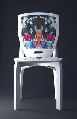 'White on White' chair design with custom