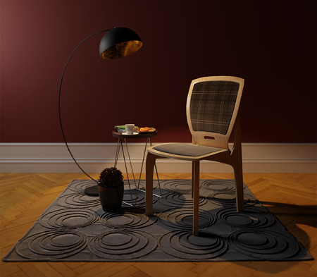Chair prototype in domestic setting