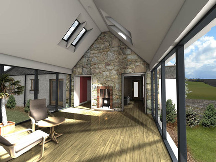 New sunroom extension