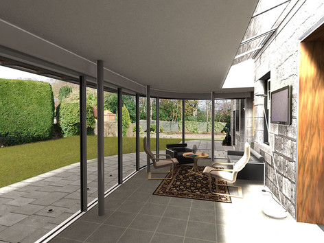 Proposed interior of the extension