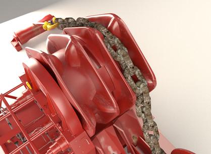 Close-up of chainlift mechanism