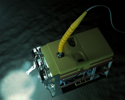 Flexlink installed on ROV cable