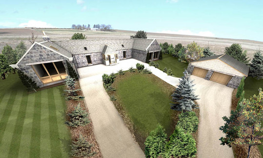 Overview of the converted steading