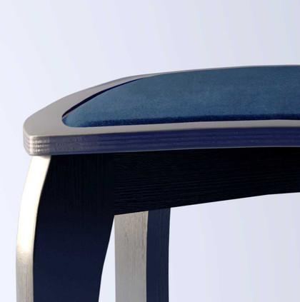 'Royal blue' velvet close-up