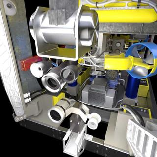 Close-up of inspection cameras