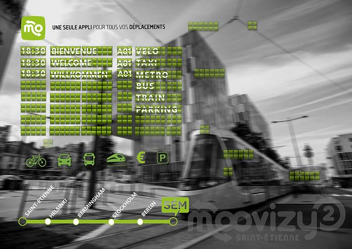 Erika V agence événementielle créative lancement de produit Moovizy2 communication print