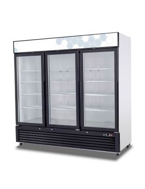 Migali 72 cu/ft Glass Door Merchandiser Refrigerator