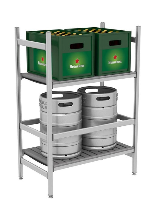 TONON KEG 2 TIER KEG RACK FOR 2 KEGS AND BEER CASES