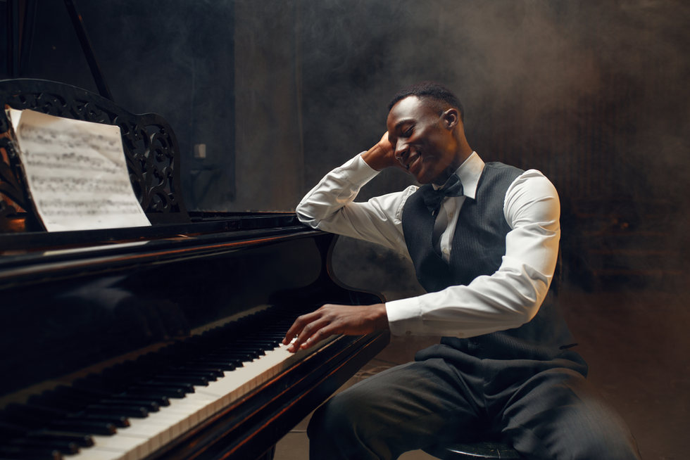 ebony-grand-piano-player-jazz-performer-stage-with-spotlights-musician-poses-musical-instr