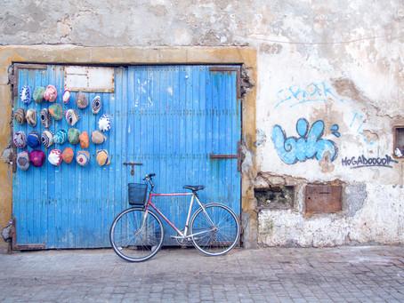 Rustic hand painted doors of Essaouria {Photo Blog}