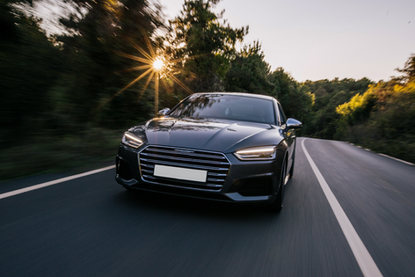 luxury-sport-car-with-xenon-lights-front