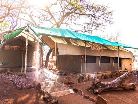 Glamping on a budget of R350 per night