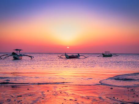 Sunset at Bali's traditional fishing village