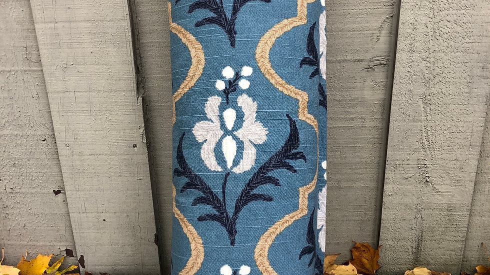 Medium Bolster - Blue Patterned
