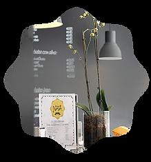 wall menu and interior store