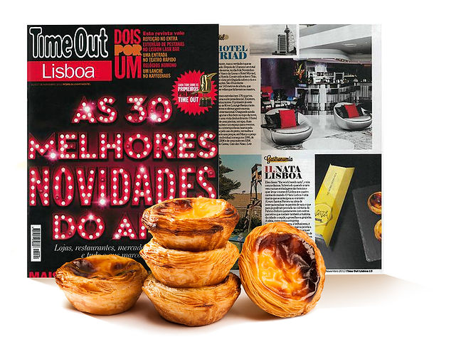 capa da revista time out lisboa com pasteis de nata