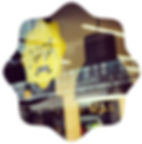 logotipo nata lisboa e interior da cafeteria