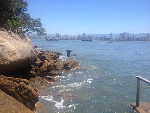 Contrastes da Serra do Mar, Santos, canal de Santos e Góes