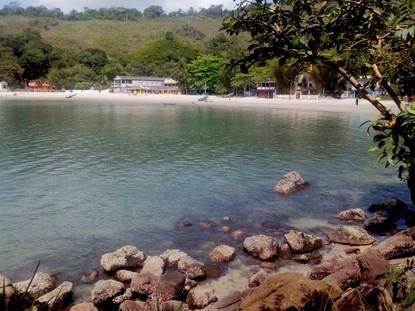 Vista após desembarcar no píer da Praia do Góes