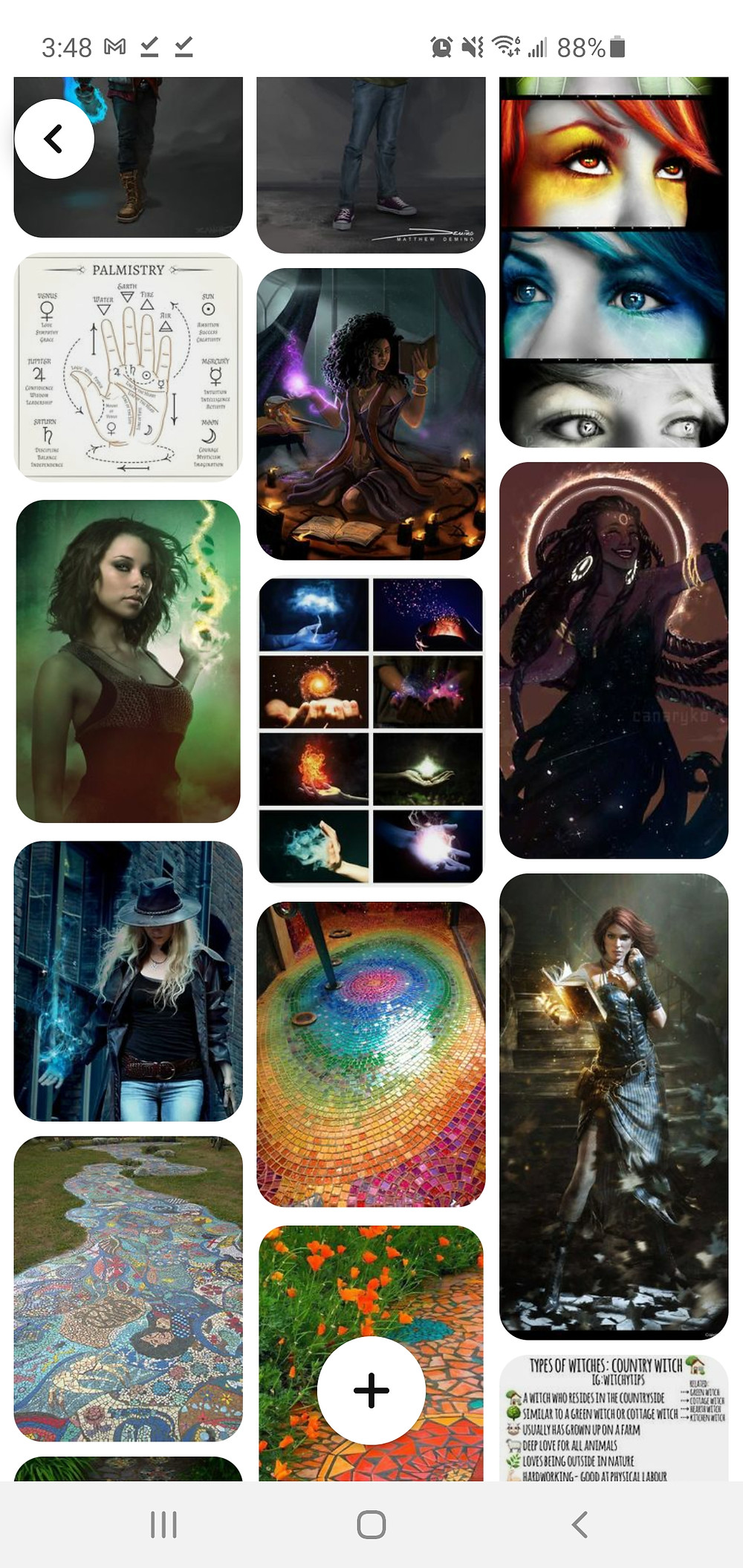 Image of Pinterest board for Unearthly Magic