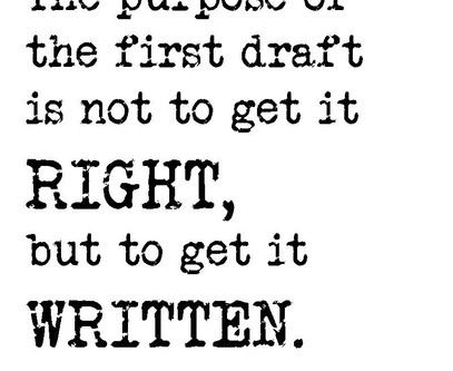Stop Your Damn Editing and Write!