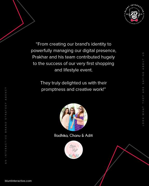 Blunt Interactive - Radhika, Chanu & Adi