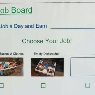 Job Board; a new take on chore charts