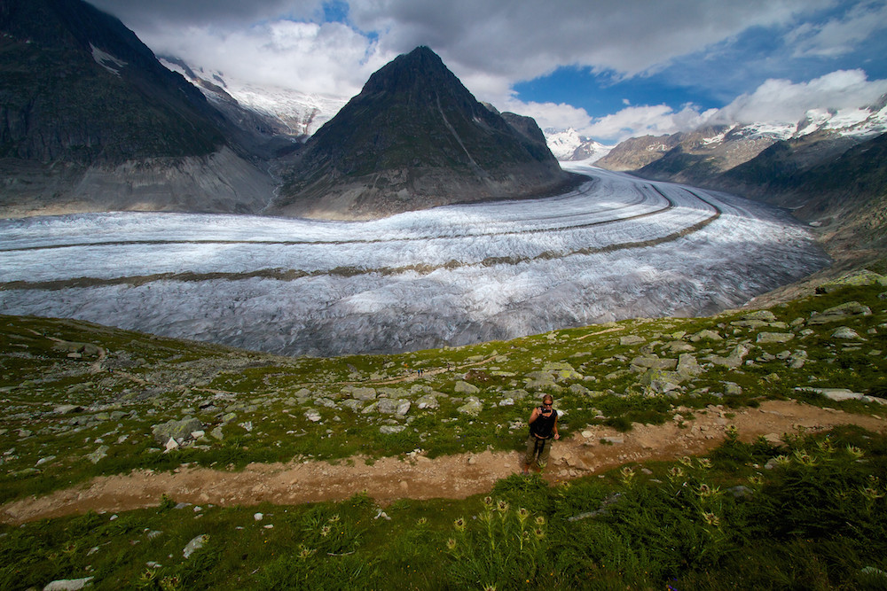 Aletsch glacier swiss souvenir