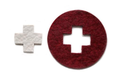 Swiss flagg trivet/pot underlay