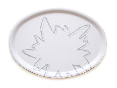 Edelweiss tray white 31x22 cm