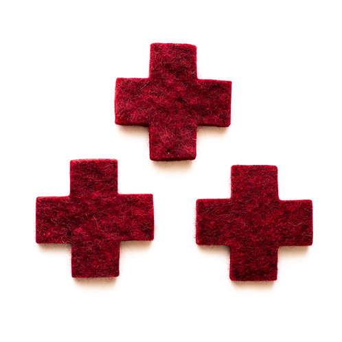 Swiss Cross coaster-  Schweizer Kreuz Untersetzer, Croix Suisse sousplat