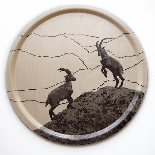 Goat birch tray 46 cm