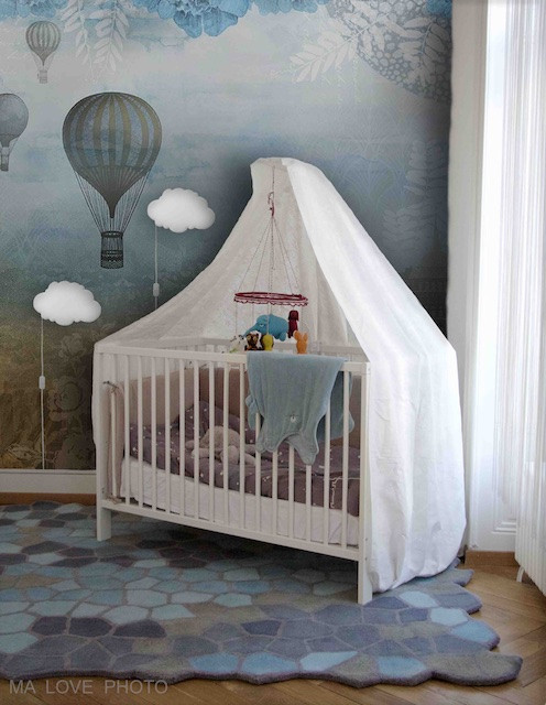 toxic free nursery with organic wool rug