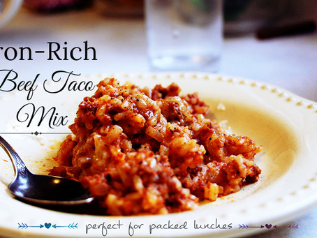 Iron-Rich Beef Taco Mix - Perfect for Packed Lunches