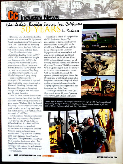 Cal Contractors CBS Article