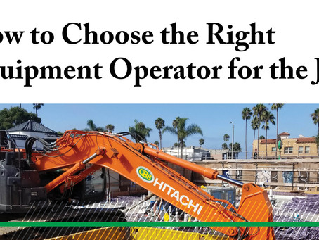 How to Choose the Right Equipment Operator for the Job
