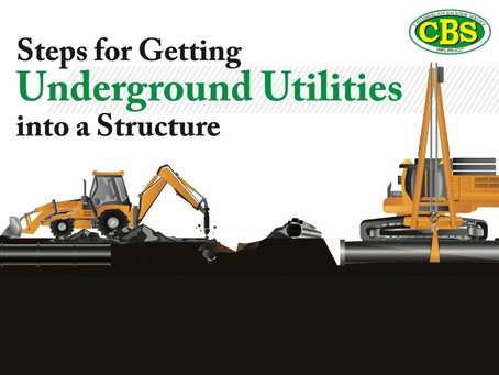Steps for Getting Underground Utilities Into a Structure