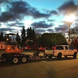 Chamberlain Backhoe Mini Excavator Set up