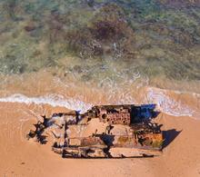 Wreck of the St. Blaize, near Kasouga
