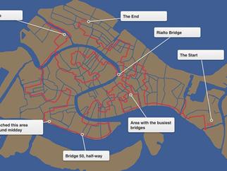 What was the 100 Venice Bridges Challenge?